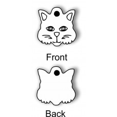 Cat Face Pet ID Tag Design Your Own