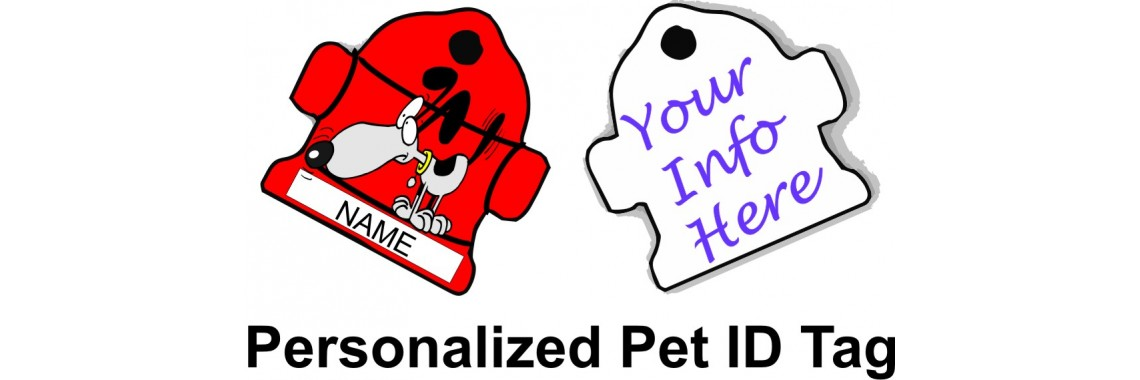 Hydrant Pet ID Dog Design Add Your Text