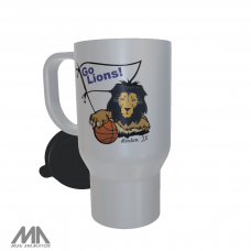 RISD All Class Reunion White Travel Mug Basketball