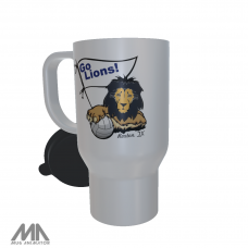 Roxton ISD White Travel Mug Volleyball